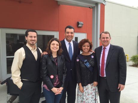 From left: Met Principal Vince Wolfe, Zelia Gonzales, Padilla, Shyanne Fair and Board Member Jay Hansen