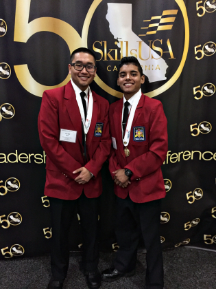 Hiram Johnson Law Academy students Jacob Lee and Adrian Morales