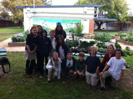 Phoebe's gardening team