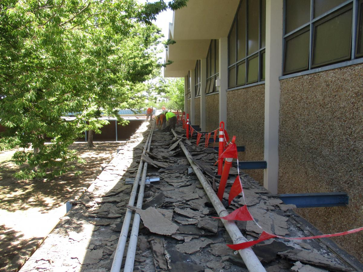 Covered Walkway Construction : John still covered walkway roofing summer