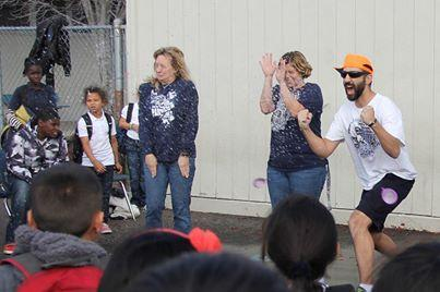 Earl Warren teachers get splashed for a good cause.