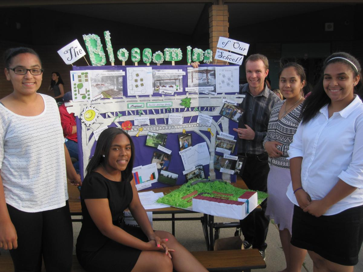 Student team from last spring's Project Green awards