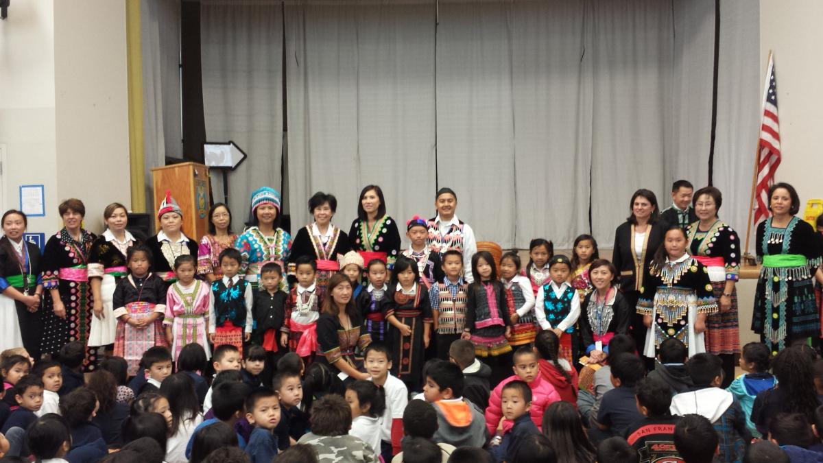 Many students wore traditional costumes.