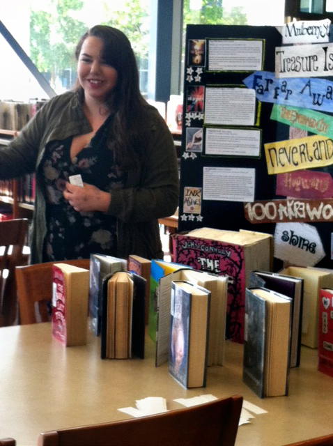 Rosemont High School librarian Christina Lanzaro