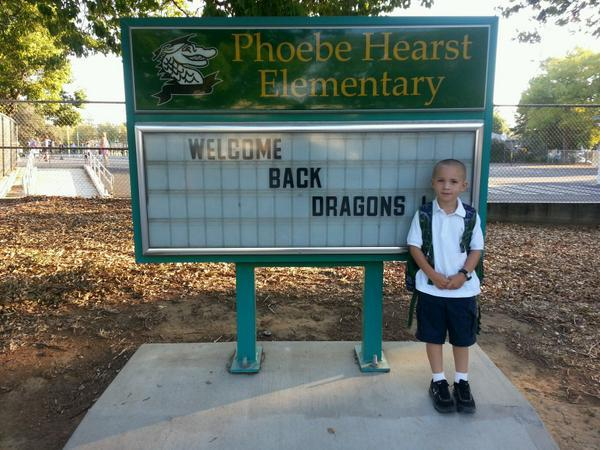 So excited for 2nd grade, @officialSCUSD amazing school culture, and brand new hardcourts! #SacGoesBack