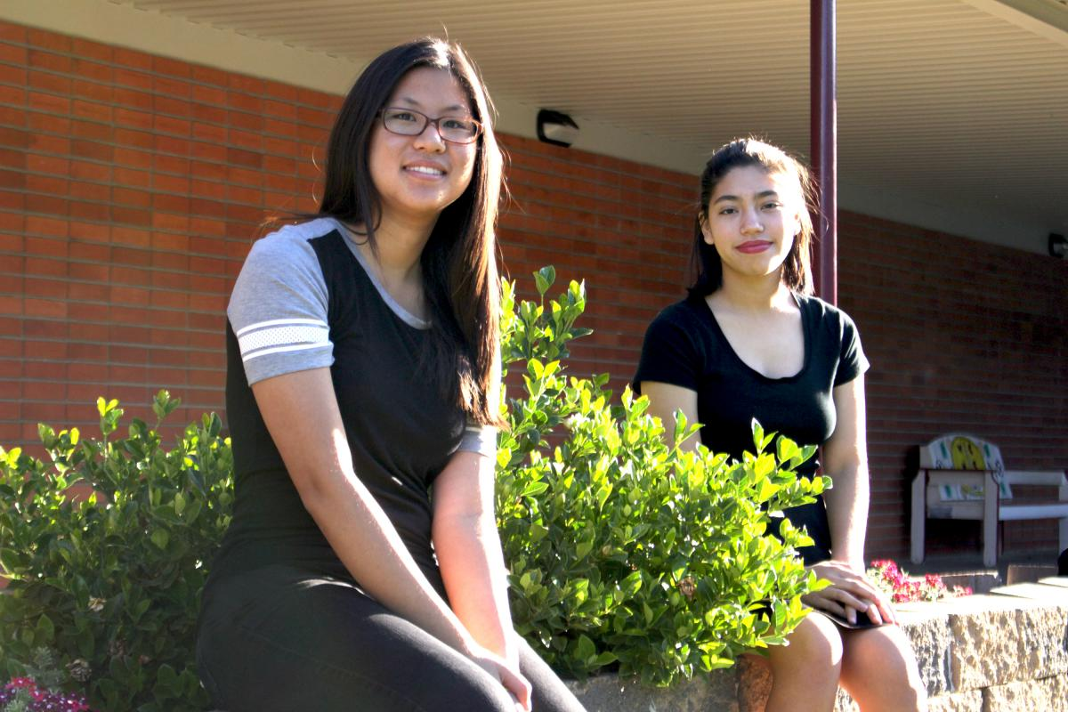 West Campus students Emily Kim and Elena Torres