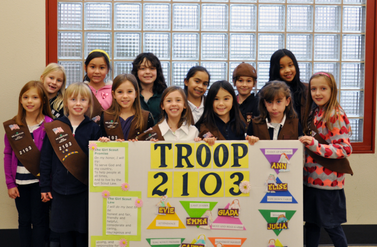 Image of SCUSD Girl Scouts support troops with cookies