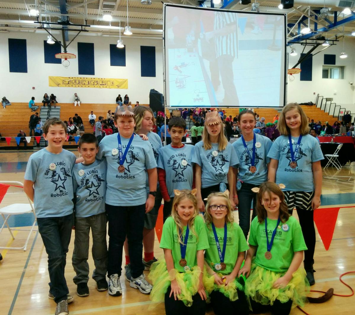 Image of Caleb Greenwood, Lubin robotics teams win at regional competition