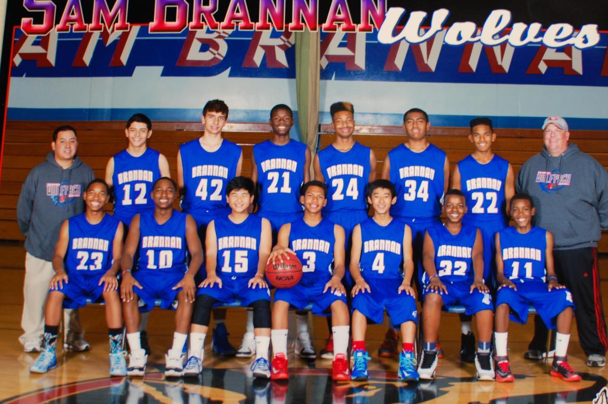 Image of Sam Brannan boys win basketball championship