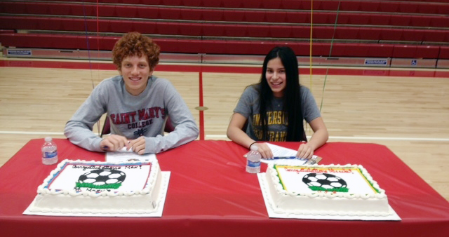 Image of McClatchy athletes take part in 2015 National Signing Day