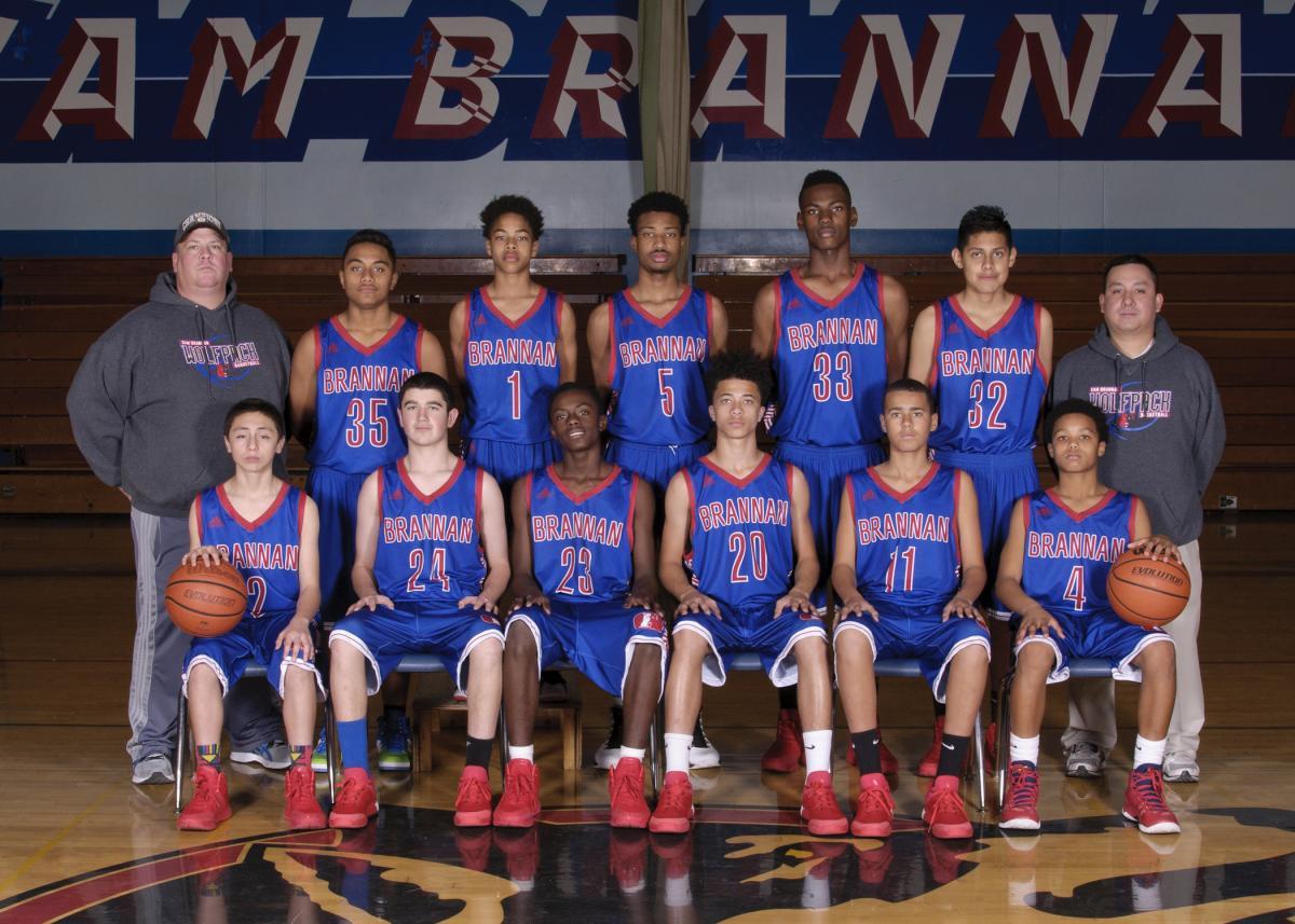 Image of Sam Brannan boys win SCUSD middle school basketball championship