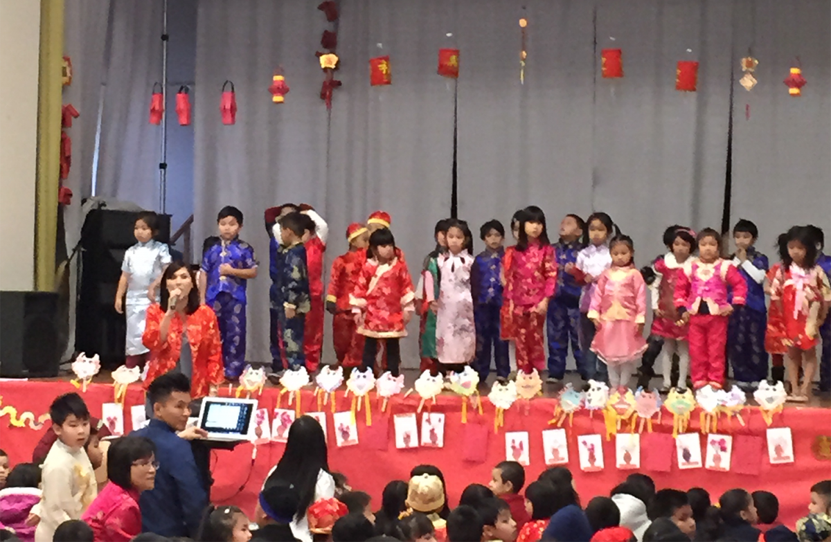Image of Elder Creek language immersion students celebrate Year of the Goat
