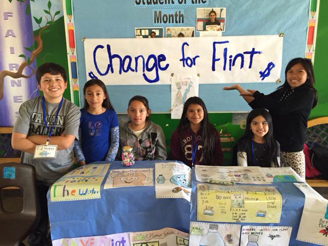 Image of Nicholas students raise money for Flint, Michigan