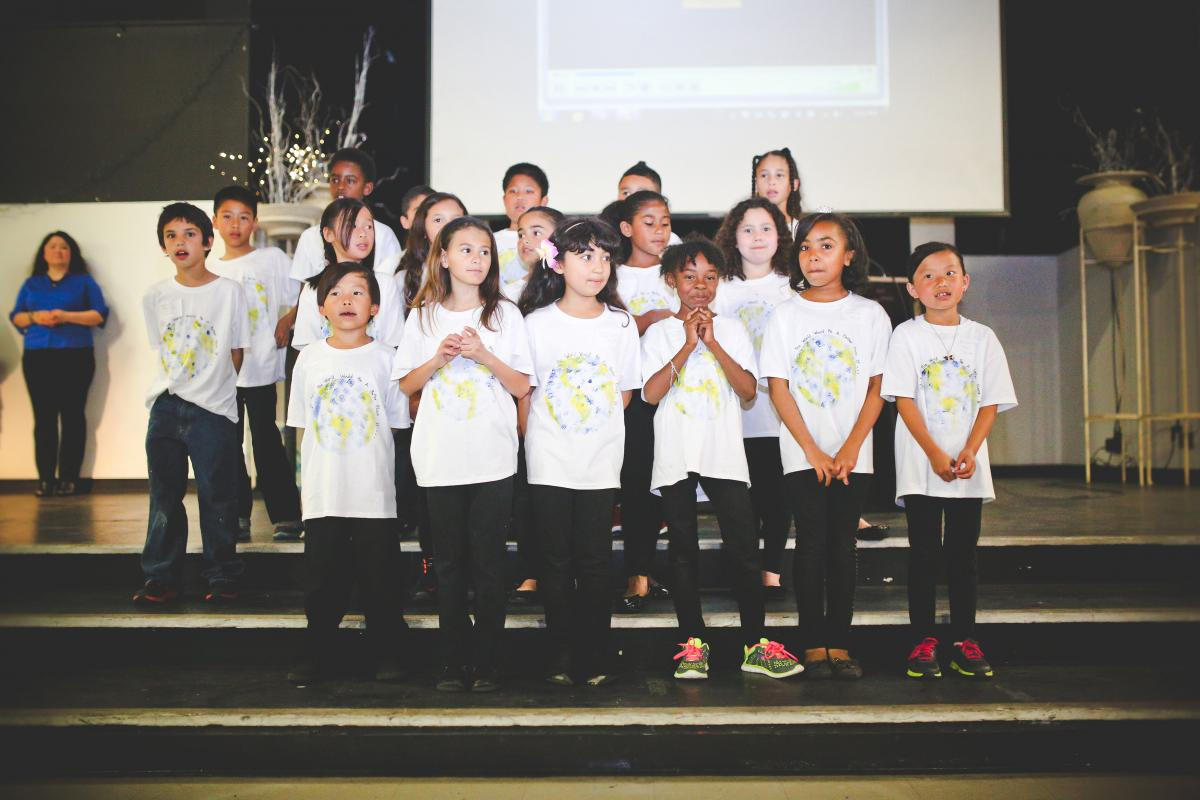 Image of Martin Luther King Jr. K-8 students perform at PTA Reflections Ceremony