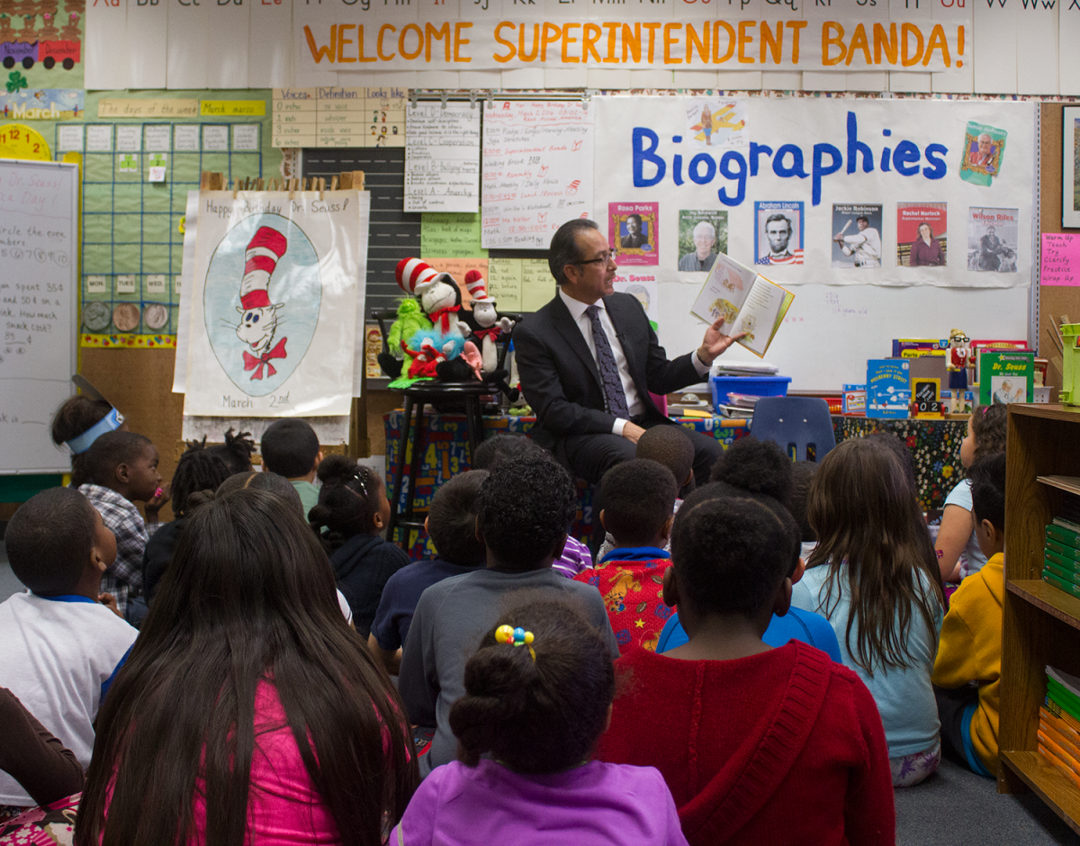 Image of Bret Harte celebrates Dr. Seuss' birthday with morning read-in