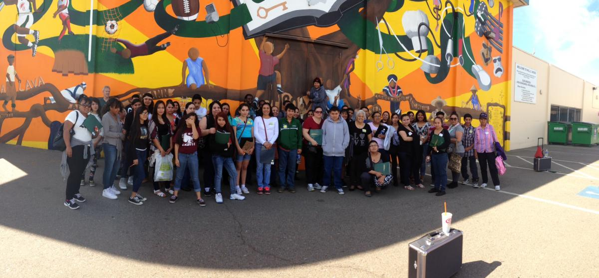 Image of Will C. Wood parents, students spend a day at Sac State