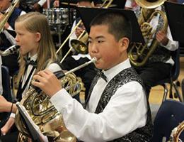 The Albert Einstein Middle School band