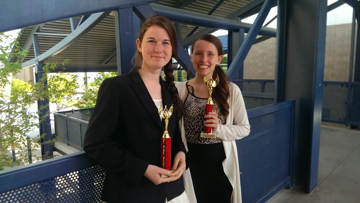 Image of Rosemont debate team No. 1 at Santa Clara University tournament