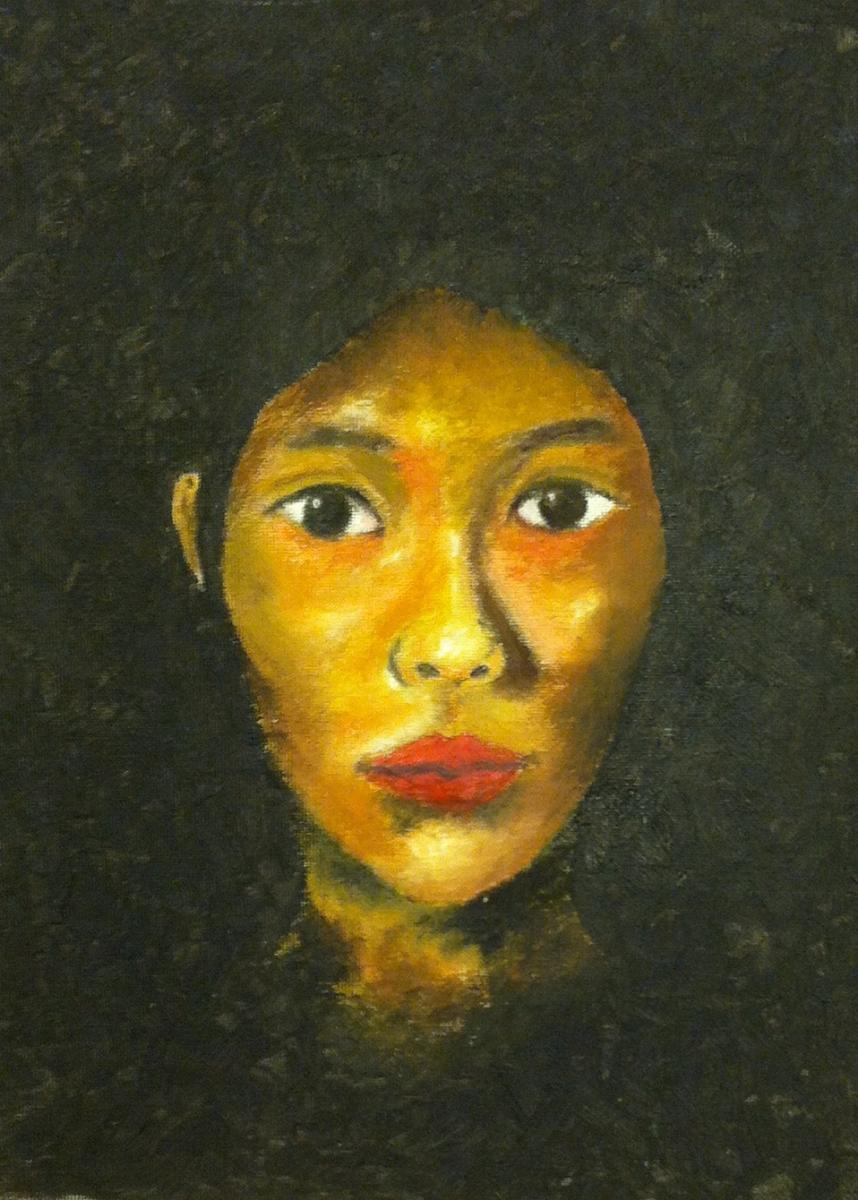 Image of Hiram Johnson junior wins third in state for self-portrait
