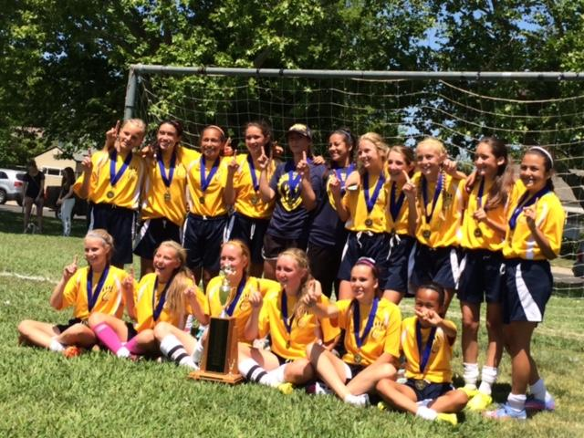 Image of Cal Middle, Fern Bacon winners in middle school soccer tourney