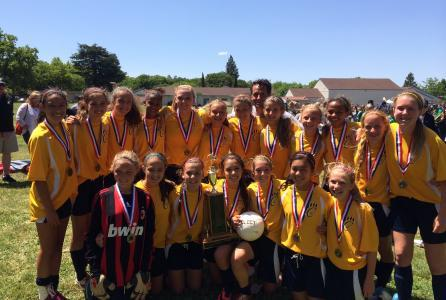 Image of Cal Middle girls win 2014 City Soccer Championship