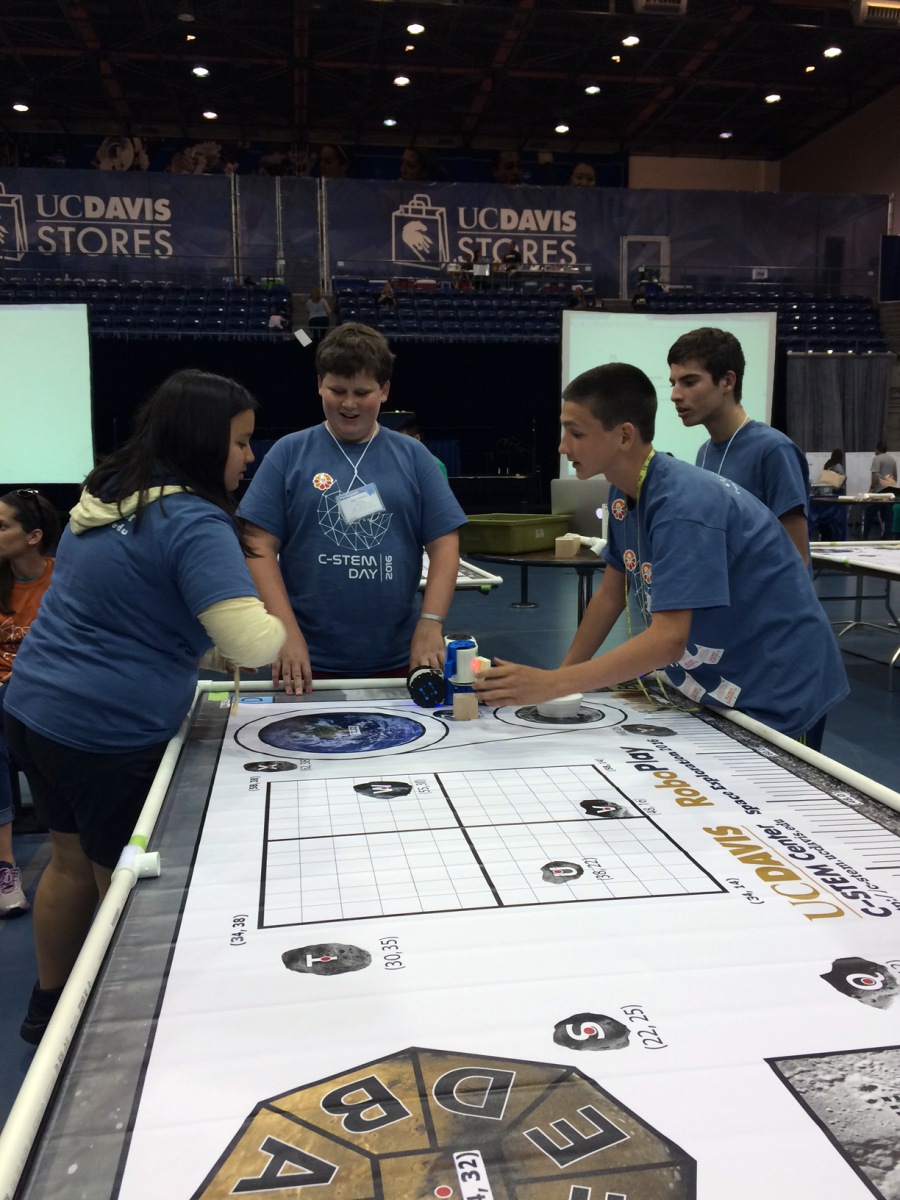 Image of Cal Middle robotics teams among top five finishers at UC Davis competition