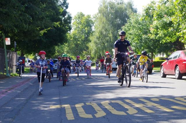 Image of Caleb Greenwood partners with Sacramento police for bike rodeo