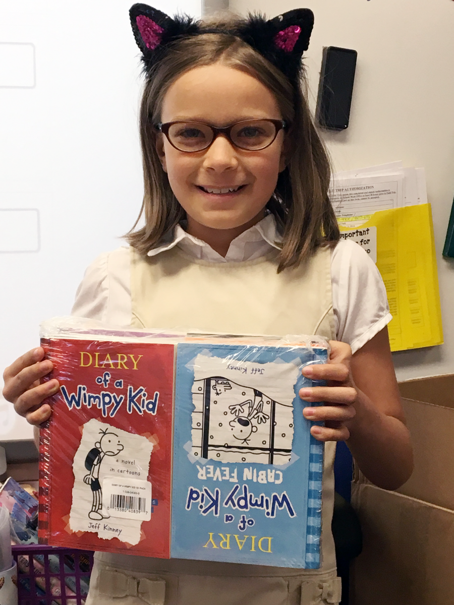 Image of Tahoe student designs a character and wins Scholastic books