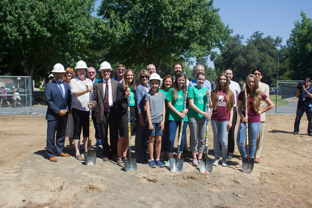 Image of SCUSD breaks ground on new classroom wing at Theodore Judah