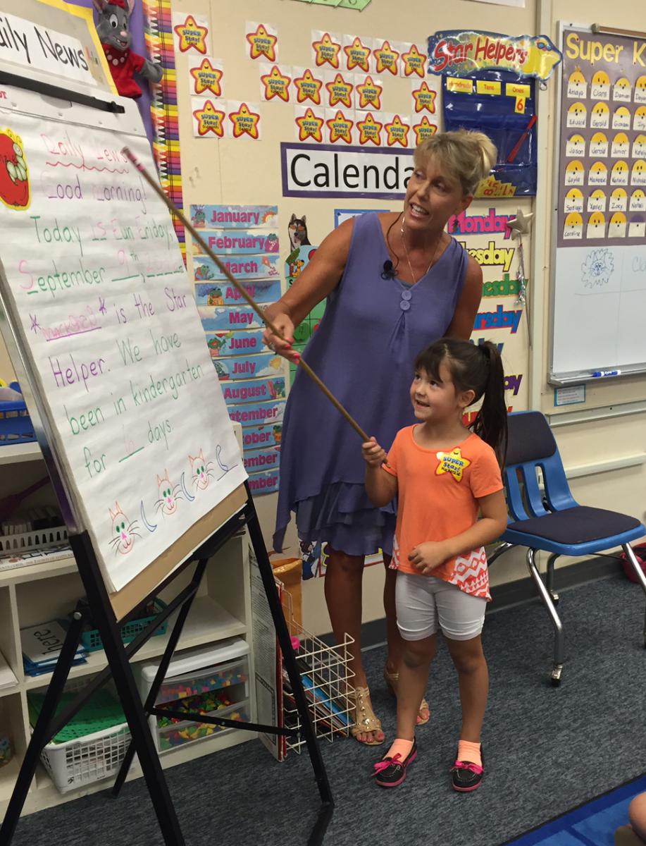 Randazzo at work in her Golden Empire classroom
