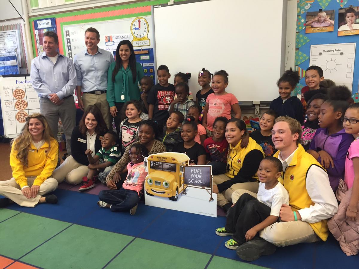 Image of Chevron donates math supplies to Leataata Floyd kindergarten class