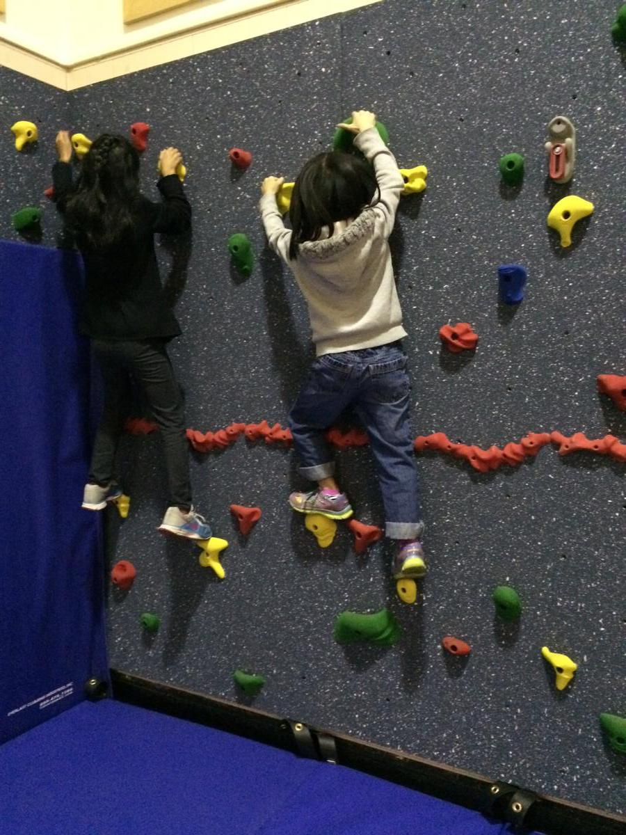 Image of Matsuyama first SCUSD campus with student climbing wall
