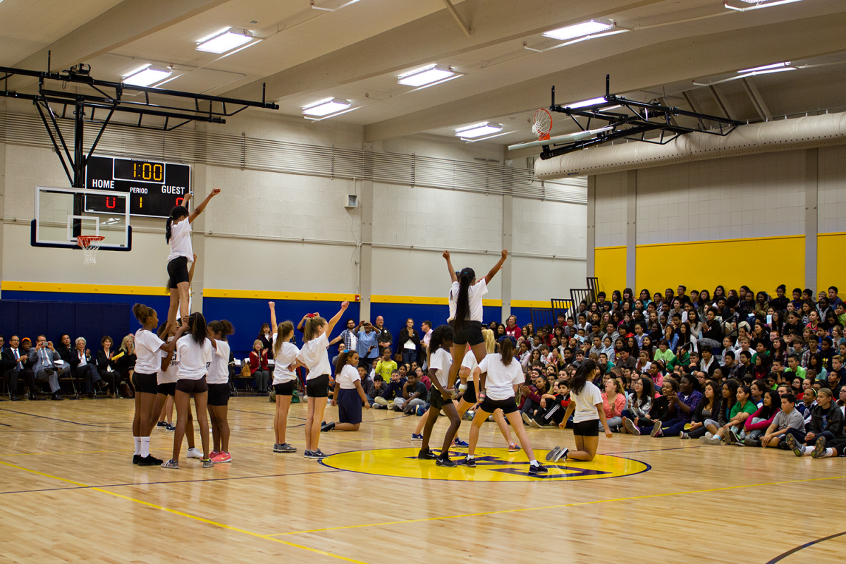 Image of California Middle School cuts the ribbon on $3.1 million expanded gym