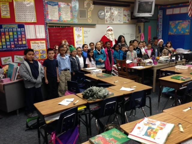Second-graders at Caroline Wenzel