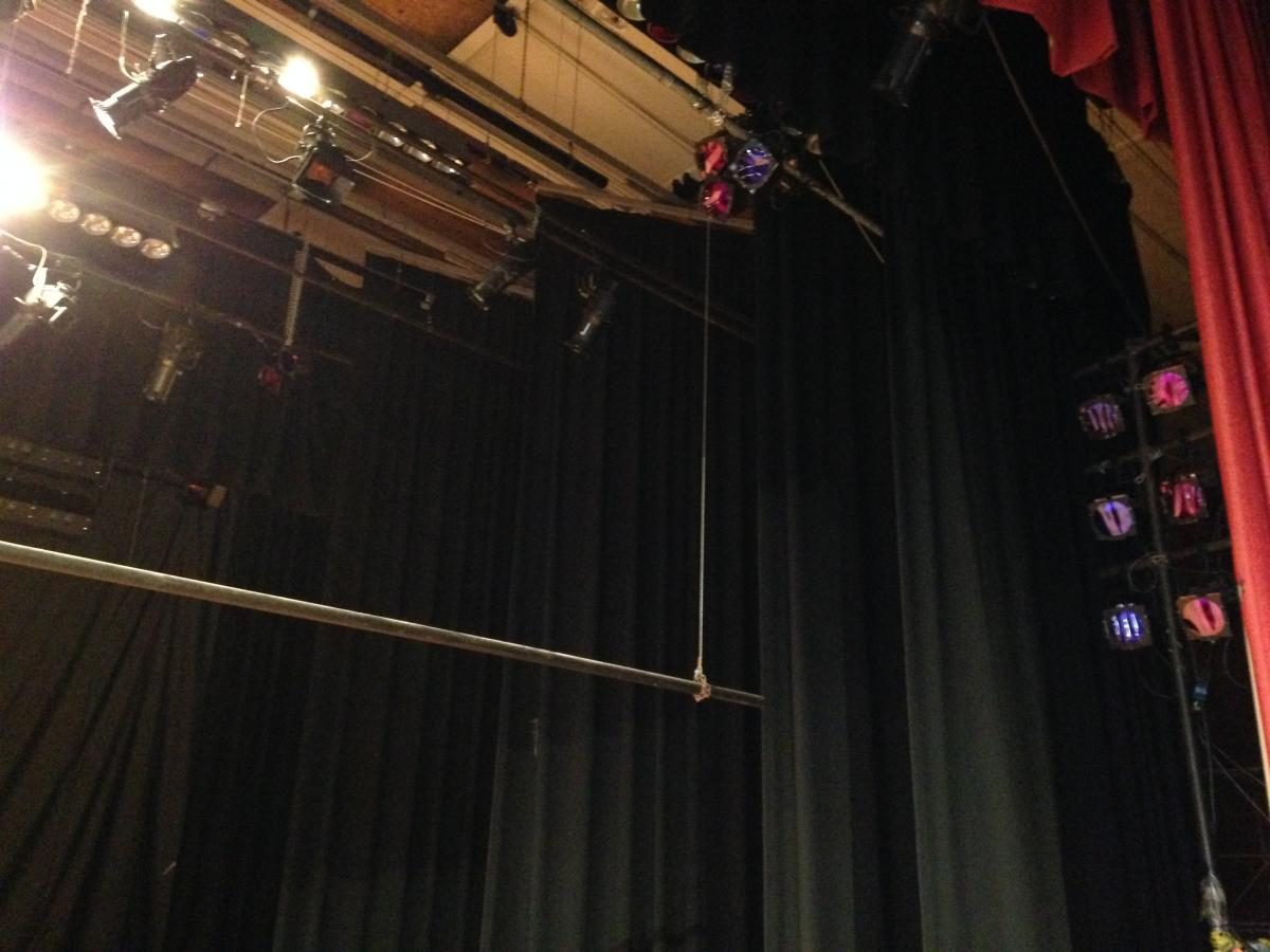 Image of Hiram Johnson Stage Drapes and Rigging