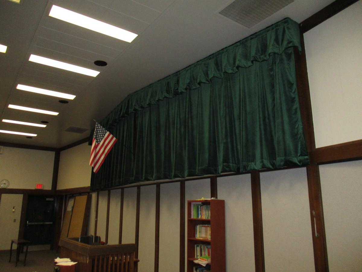 Image of John F. Kennedy Stage Drapes and Rigging