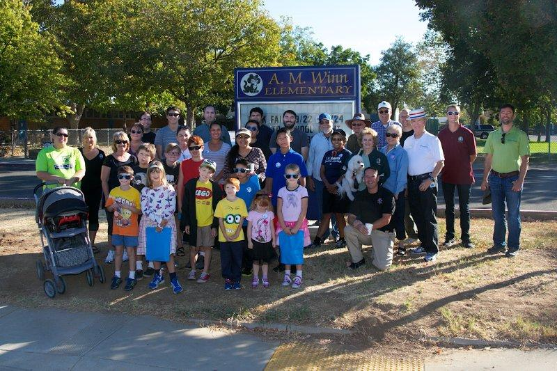 Image of Rancho Cordova mayor chooses AM Winn for neighborhood event