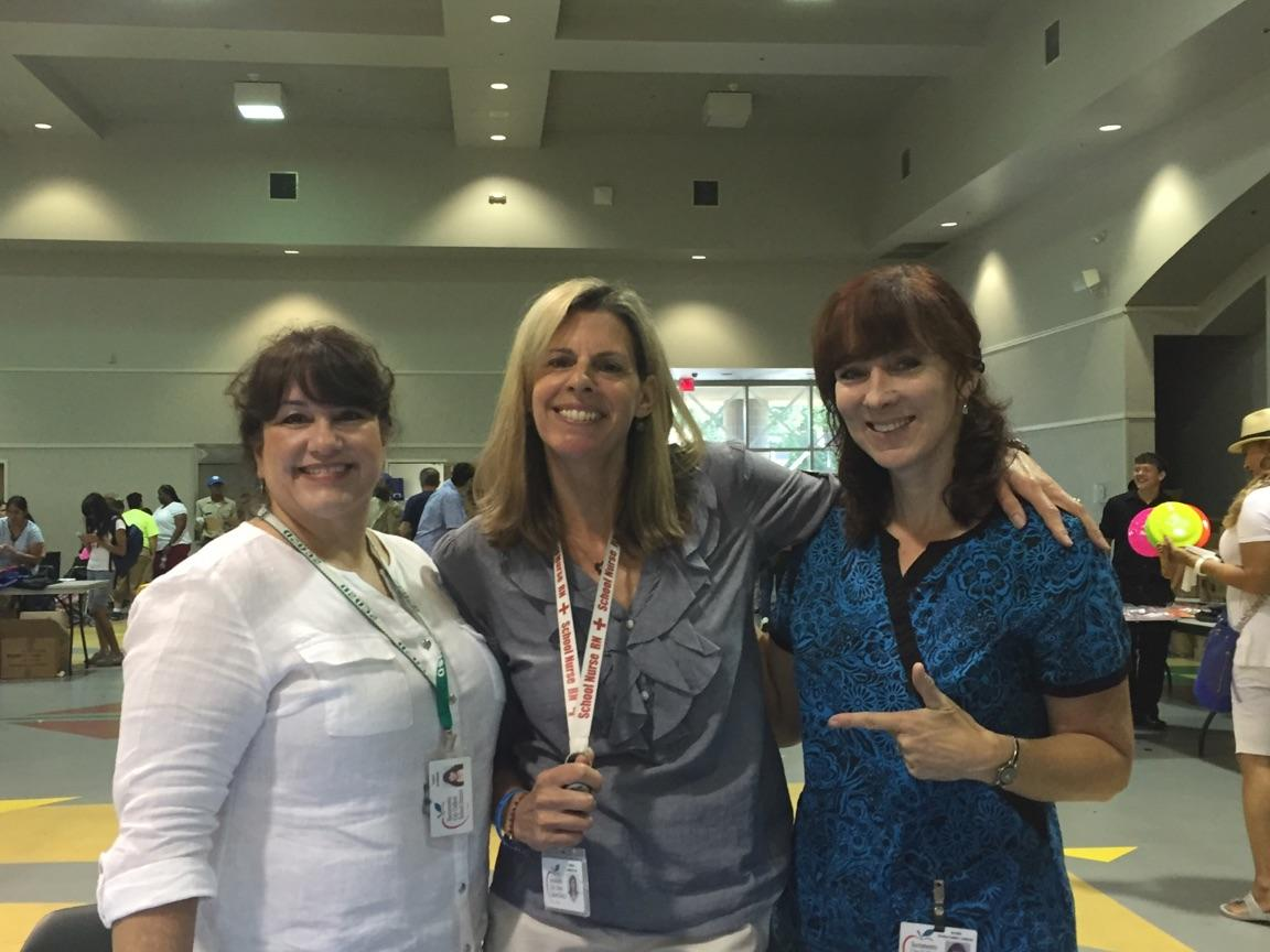 SCUSD nurses participate in a Back-to-School Health and Wellness Fair hosted by Assemblymember Jim Cooper.