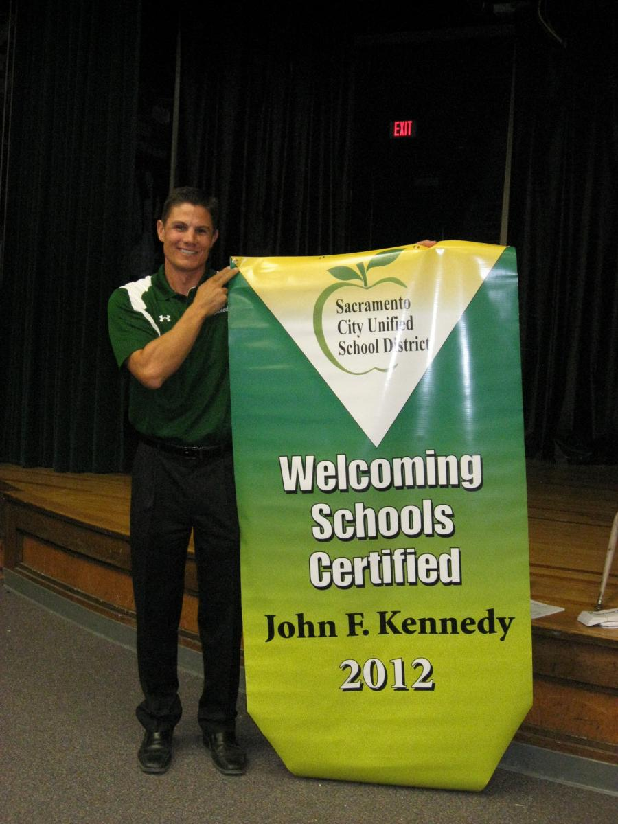 Image of Kennedy earns 'Welcoming School' certification