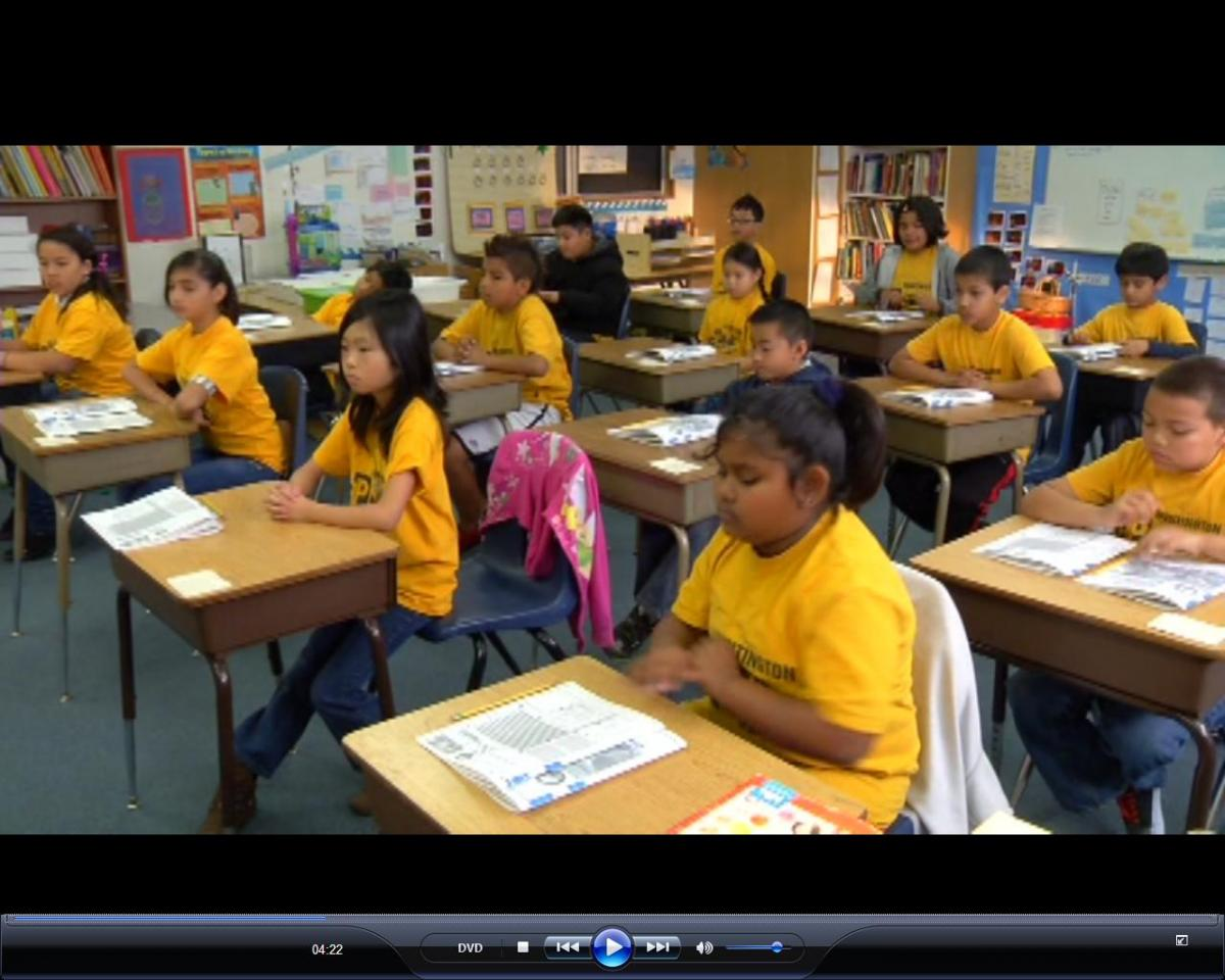 Image of Huntington and McClatchy students play a starring role in training video