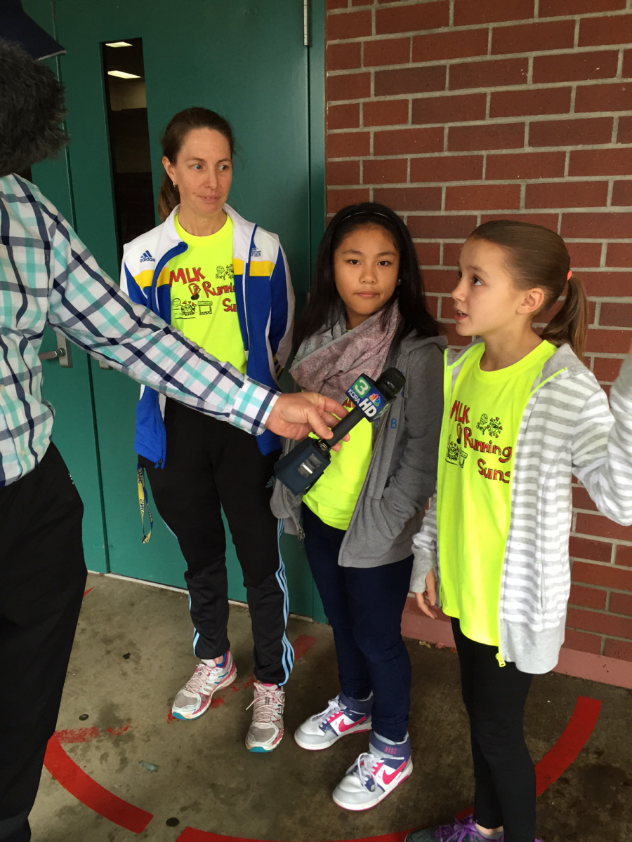 Image of Local Olympian inspires Martin Luther King Jr. K-8 students to run farther