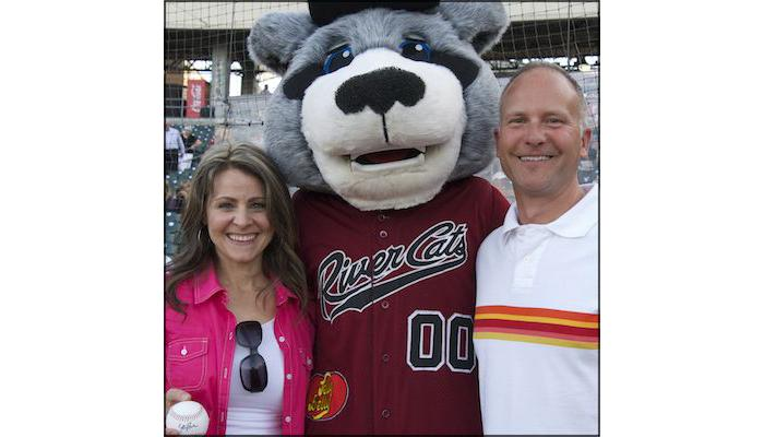 Image of SCUSD's Teacher of the Year celebrated at River Cats game