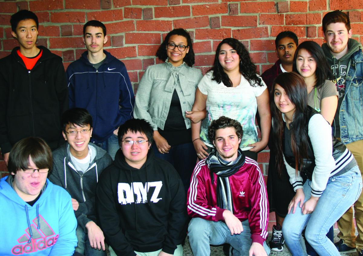 Image of JFK students honored for book illustrations