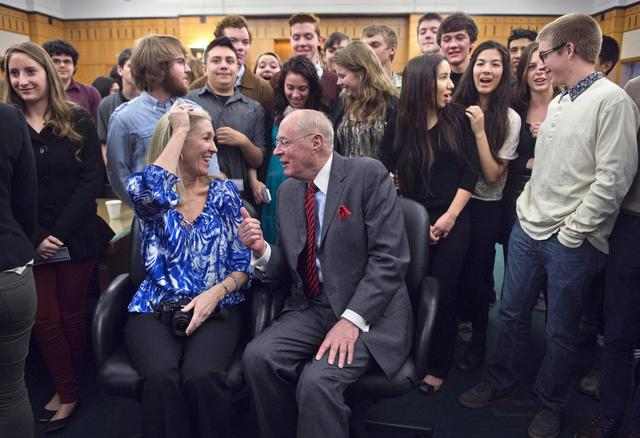 Image of McClatchy government students meet U.S. Supreme Court Justice Kennedy