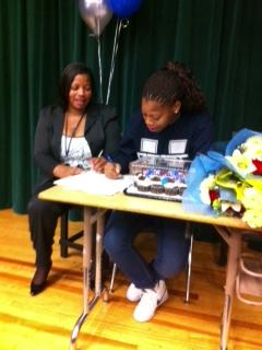 Image of Kennedy's women's basketball star signs with Utah State