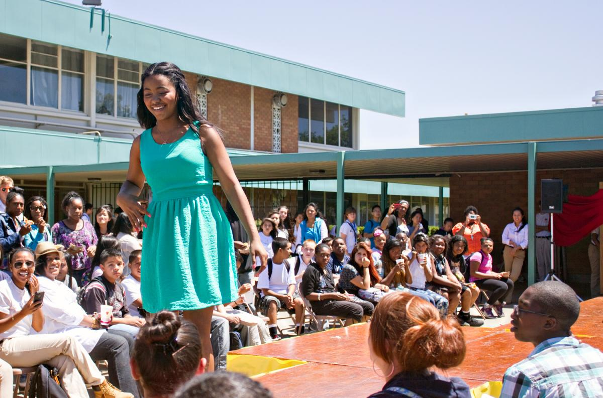 Image of Rosa Parks' 'Career Week' culminates with fun fashion show
