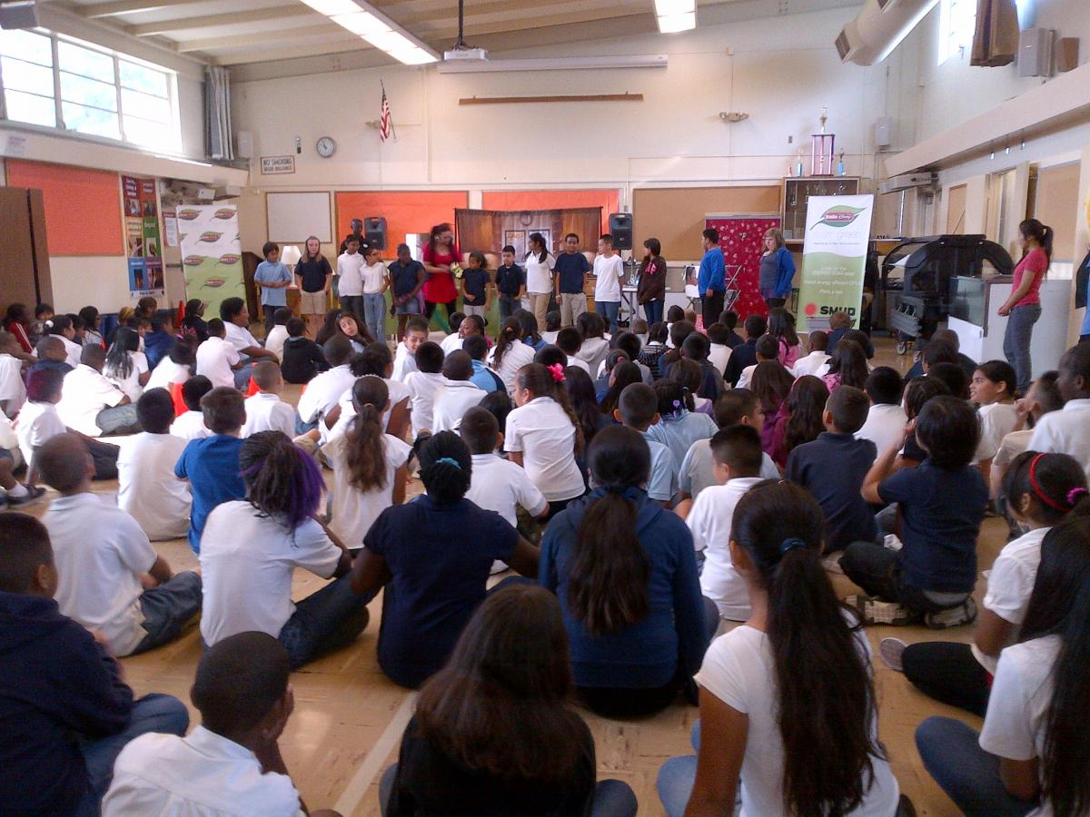 Image of Radio Disney guests at Woodbine assembly