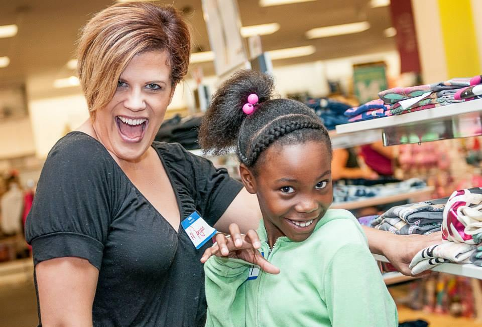 Image of Rosa Parks students shop at Kohl's courtesy Active 20-30 Club members