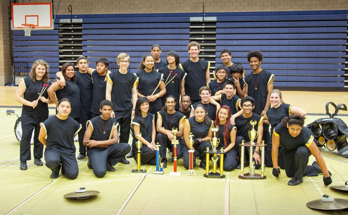 Image of Rosemont High percussionists win band competition