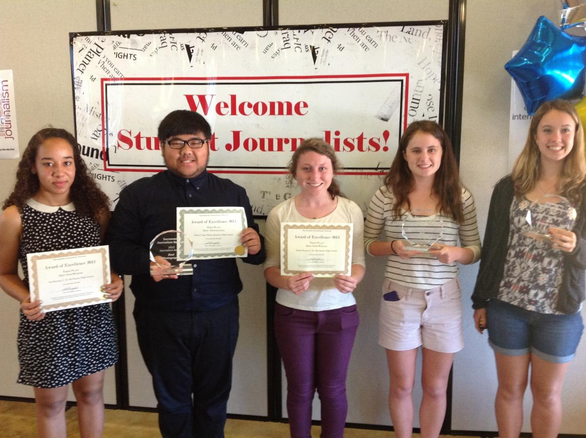 Image of CKM, Hiram Johnson student journalists win regional awards